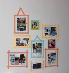 CARTES POSTALES MAISON mur de photo DIY2