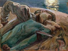 The Lovers Painting by Akseli Gallen Kallela | Oil Painting