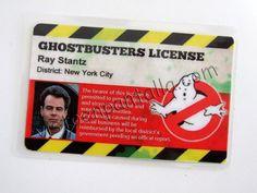 Carnet identificativo Los Cazafantasmas. Ray Stantz