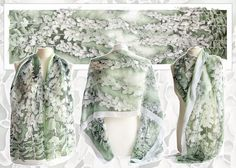 Silk scarf Foxglove - For sale by MinkuLul.deviantart.com on @deviantART