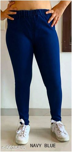 Checkout this latest Jeggings Product Name: *Stylish Designer Women's Jegging* Fabric: Denim Waist  Size: L - -Waist - 30 in Hip - 36 in Length - 42 in  XL -- Waist - 32 in Hip - 38 in Length - 42 in  XXL -- Waist - 34 in Hip - 42 in Length - 42 in  XXXL -- Waist - 36 in Hip - 44 in Length - 42 in  4XL -- Waist - 38 in Hip - 46 in Length - 42 in  5XL -- Waist - 40 in Hip - 48 in Length - 42 in Length: Up To 42 in  Type: Stitched  Description: It Has 1 Piece of Women's Jeggings  Pattern: Solid  Country of Origin: India Easy Returns Available In Case Of Any Issue   Catalog Rating: ★4.3 (278)  Catalog Name: Piya Stylish Designer Women's Jeggings Vol 12 CatalogID_738825 C79-SC1033 Code: 614-5028435-7401