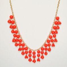Orange Droplet Statement Necklace