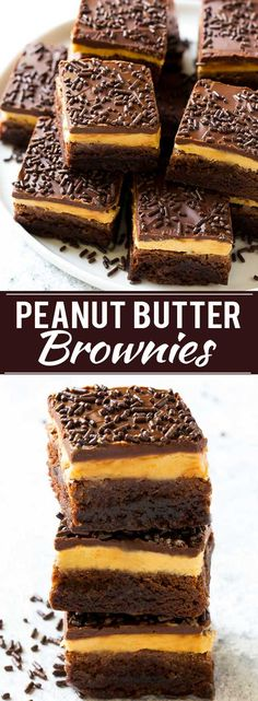 Peanut Butter Brownies Recipe | Layered Brownies | Peanut Butter Truffle Brownies