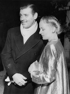 Clark Gable and Carole Lombard attend the January 17, 1940 Hollywood premiere of Gone with the Wind (1939)