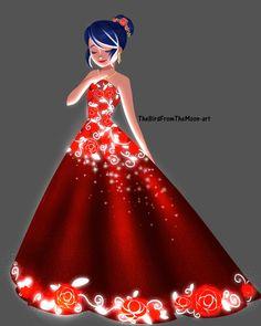 Marinette's Yule Ball gown, Hogwarts AU TheBirdFromTheMoon-Art