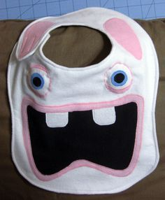 raving rabbids flannel baby bib made to order by aitenshi on etsy 1000 - Raving Rabbids Halloween Costume