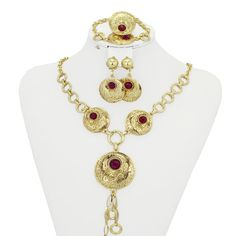 Find More Jewelry Sets Information about 2016 New Ruby Necklace Jewelry Set  Necklace 18K Real Gold Plated Nigerian Wedding African Jewelry Sets for Women,High Quality jewelry transport,China jewelry set wedding Suppliers, Cheap jewelry cat from AE Jewelry&sport jerseys on Aliexpress.com
