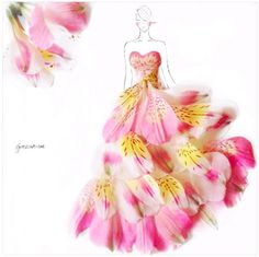 Creative artist Grace Ciao turns real flowers into couture designs... Stunning!