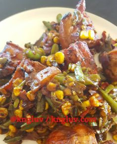 Smoked chicken and veggies #smokedchicken