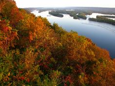 Mississippi River...Pike's Peak in the fall: 35 miles East of Decorah located near Marquette, IA.