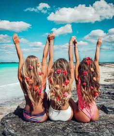 Bridget Bahl (@bridgethelene) friend goals long hair swimwear beach tan fun friendship holiday vacation summer