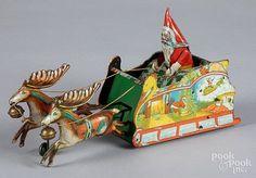 Strauss tin lithograph wind-up Santee Claus