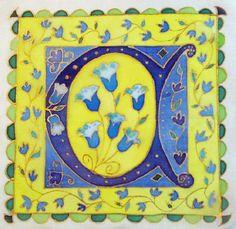 Silk Painting Illuminated Letters