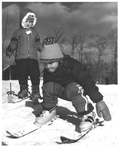 How old do you think these little ones are now? They started skiing at Camelback Mountain Resort in the early days! #MyCamelback