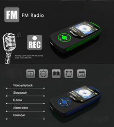 Ruizu X06 Bluetooth Sport HiFi Lossless MP3 Music Player Recorder Xmas Gifts | eBay