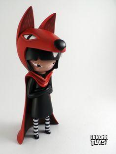 "SpankyStokes.com | Vinyl Toys, Art, Culture, & Everything Inbetween: Did Lisa Rae Hansen Remake FrankenFactory's ""WolfGirl"" Using YOii × Wetworks's ""Kidzilla""?!?"