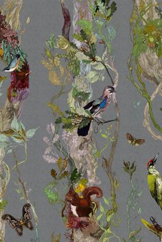 Timorous Beasties Wallcoverings - Indie Wood