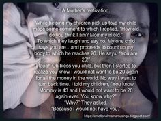 Emotional Mama Musings: A Mother's Realization