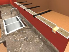 Hidden Countertop Supports By Centerline Provide Optimal Support For Granite,  Marble, Quartz And Other Solid Surface Materials.