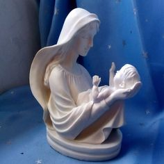 Virgin Mary Holding The Baby Jesus European Style Home Decoration Catholic Holy Things Christian Mother Love Craft