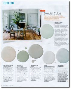 "12 Interior Designers Pick Their Favorite Swedish Paint Colors----Tori Golub suggests- ""Only Natural"" SW 7596 From Sherwin- Williams"