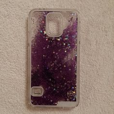 Galaxy S5 Case Purple glitter case with stars and glitter that move in case. Almost as if it has water in it. Really pretty! Great condition with no cracks. Accessories Phone Cases
