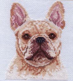 French Bulldog cross stitch $5.00