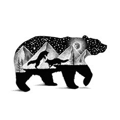 Gorgeous Double Exposure Wildlife Illustrations By Thiago Bianchini