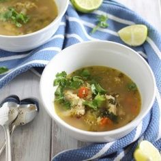 Spicy Chicken Lime Soup HealthyAperture.com