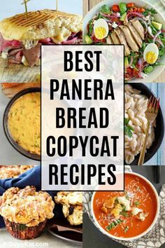 Get the best Panera Bread copycat recipes in one place! Find soup sandwich salad mac and cheese and pastry favorites to make at home. The post Panera Bread Copycat Recipes CopyKat Recipes appeared first on Tasty Recipes. Copykat Recipes, Soup Recipes, Salad Recipes, Dinner Recipes, Cooking Recipes, Drink Recipes, Chicken Recipes, Panera Bread, Biscotti