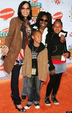 Whoopi Goldberg With Her Daughter & Grandchildren