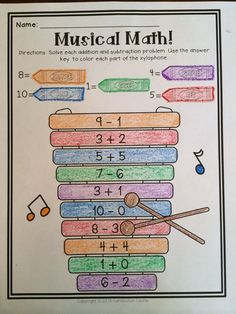 "Get Ready for Math Kinders! Colorful and ""musical"" way to learn math facts."