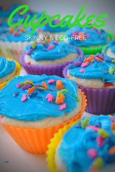 Recipe: Skinnifetti Cupcakes (egg-free & low-cal)