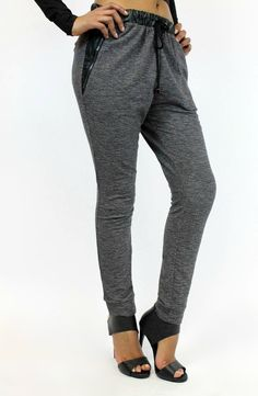 Get the ultimate street style with these Leather Trim Joggers. #LeatherIsBetter #ShopVamped #Joggers
