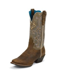 Justin Women's Rugged Tan Cow Boot - L2566