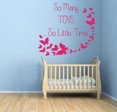Wall Decals Quote Toys Butterflies Nursery Vinyl Sticker Murals Wall Decor KG134