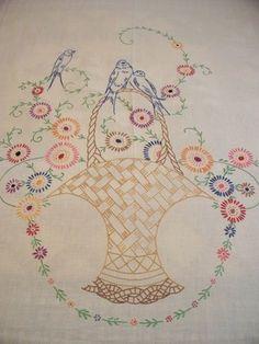 PANSIES / grey - Embroidered muslin