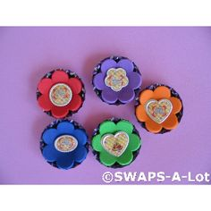 SWAPS flowers with button centers