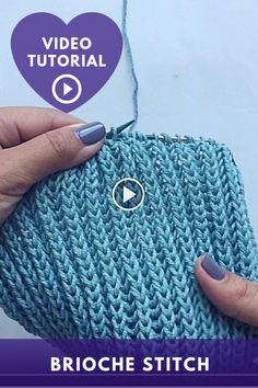 Diy Crafts Knitting, Easy Knitting, Knitting Projects, Start Knitting, Knitting Videos, Baby Knitting Patterns, Crochet Patterns, Herringbone Stitch Tutorial, Diy Crochet