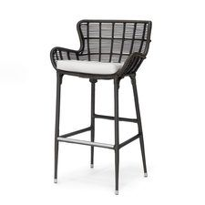 "PALERMO OUTDOOR 24"" COUNTER BARSTOOL, ESPRESSO"