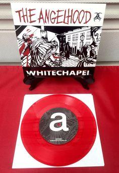"ANGELHOOD Whitechapel Red Vinyl Double Groove 7"" 45rpm Record 1998 Mykel Boyd"
