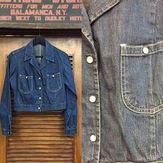 Vintage Denim, Vintage Clothing, Vintage Outfits, Mod Fashion, Denim Fashion, Denim Button Up, Button Up Shirts, Karen Robinson