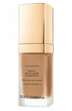 Dolce & Gabbana Perfect Matte Liquid Foundation SPF 20 | Best High-End Foundation List