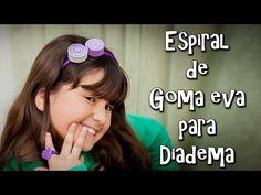 ESPIRAL DE GOMA EVA PARA DIADEMA - YouTube