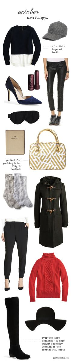 October fashion and accessory favorites.