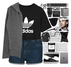 """""""Yoins // 11"""" by justonegirlwithdreams ❤ liked on Polyvore featuring adidas, Toast, Monrow, Unison, Homage, Byredo, Anya Hindmarch, Uncommon, CB2 and NARS Cosmetics"""