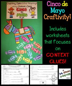 Context Clues Craftivity- Cracking Open Word Meanings Cinco de Mayo Style! Includes two worksheets $