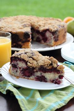 Blackberry Buckle~T~ Love this with fresh Whipped Cream