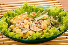 Salada de carne desfiada