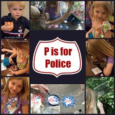 P is for Policeman Community Helpers